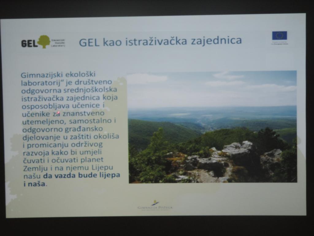 Voditelj projekta - Što je Gimnazijski ekološki laboratorij (GEL)?
